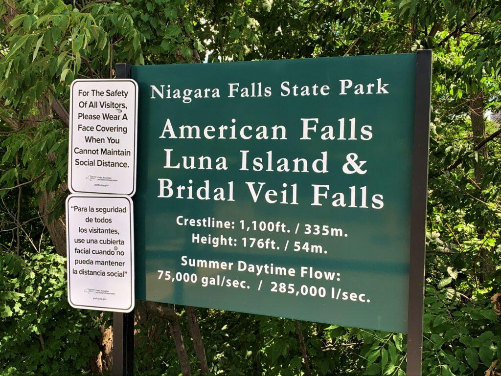 Niagara Falls State Park Signage