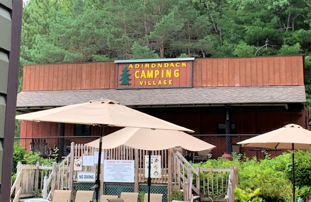 Pool Restrooms and Laundry Adirondack Camping Village