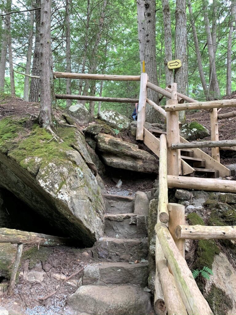 Stone Steps and walkways at Natural Stone Bridge