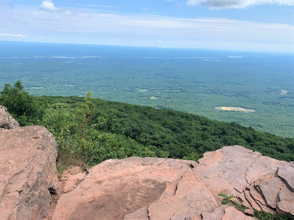 Viewing Area At Top Of Overlook Mountain NY