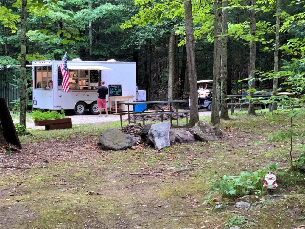 Fellowship Cafe Food Truck at Mt Greylock Campsite Park