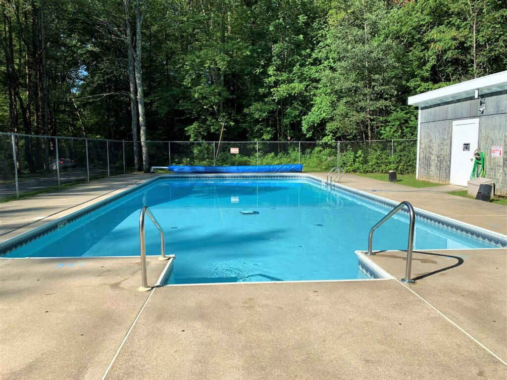 heated swimming pool at the campground