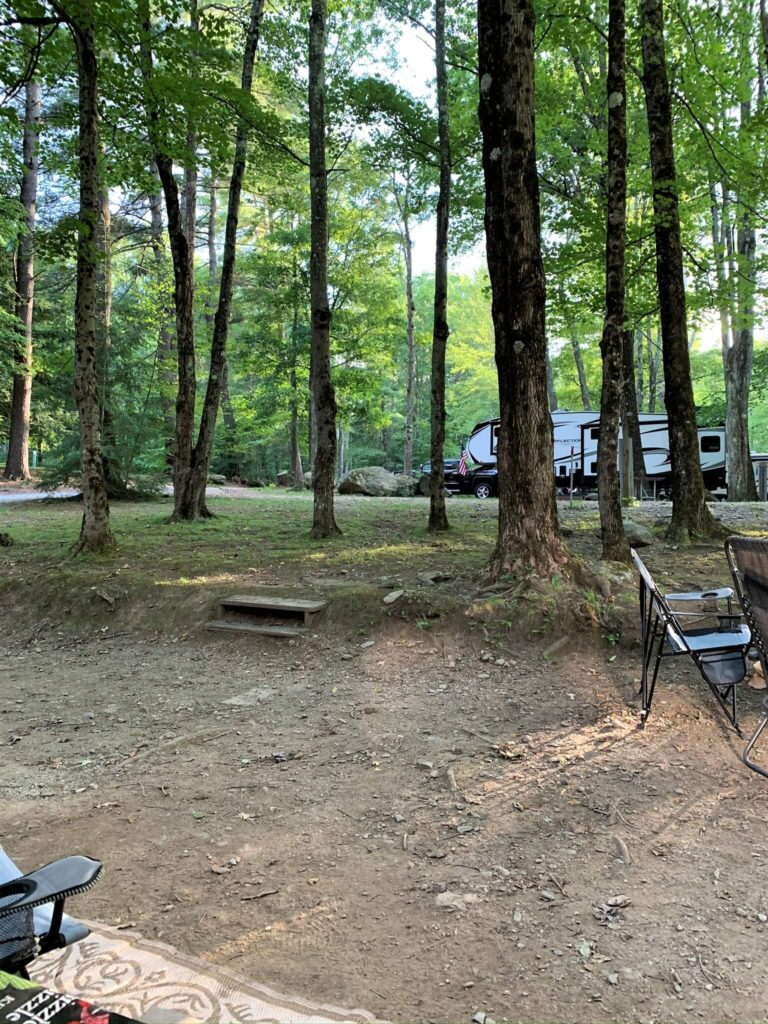 Large private wooded campsite