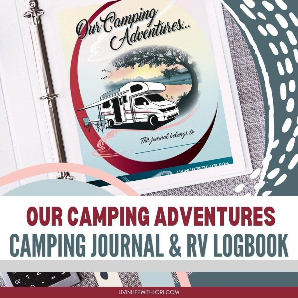 3 Ring Binder Camping Journal and Logbook
