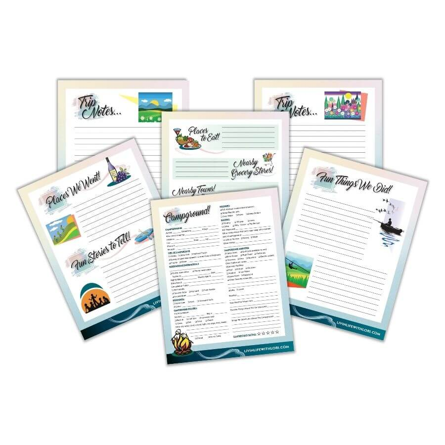 Campground Log and Memories Pages