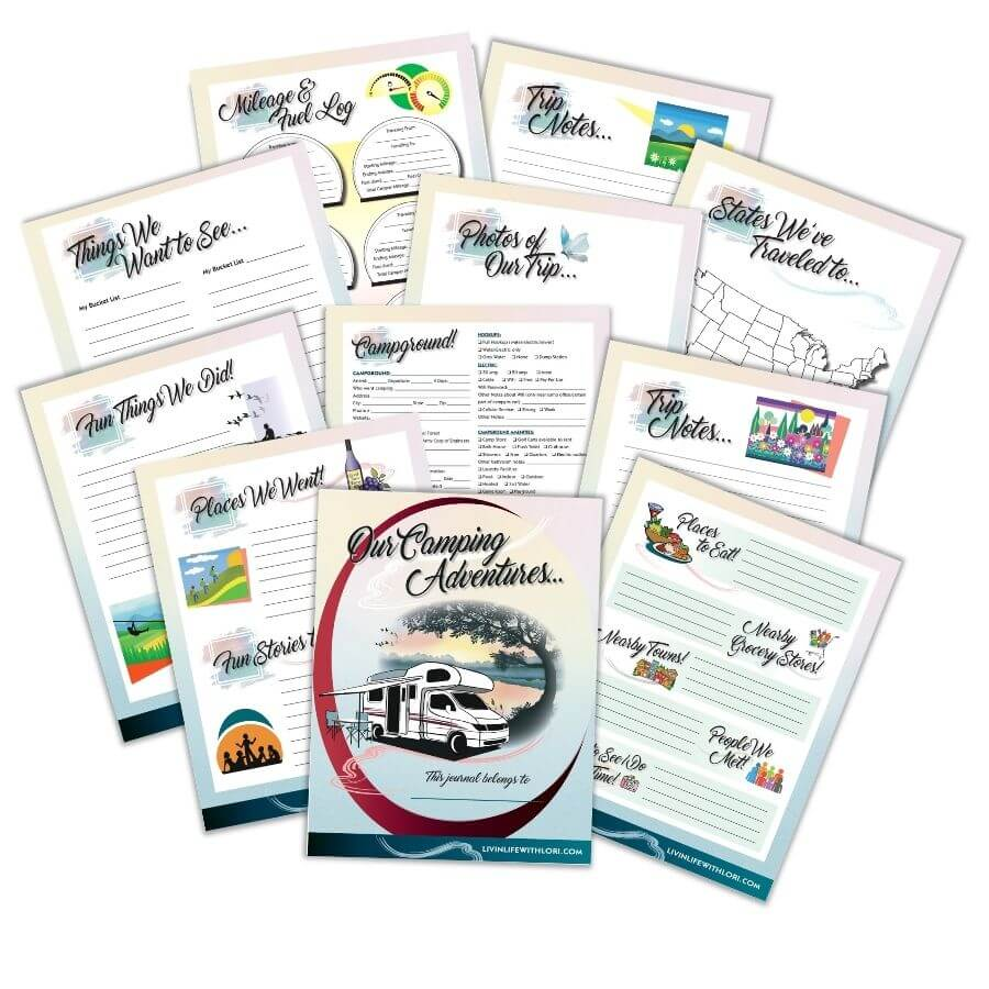 Camping Journal & RV Logbook pages