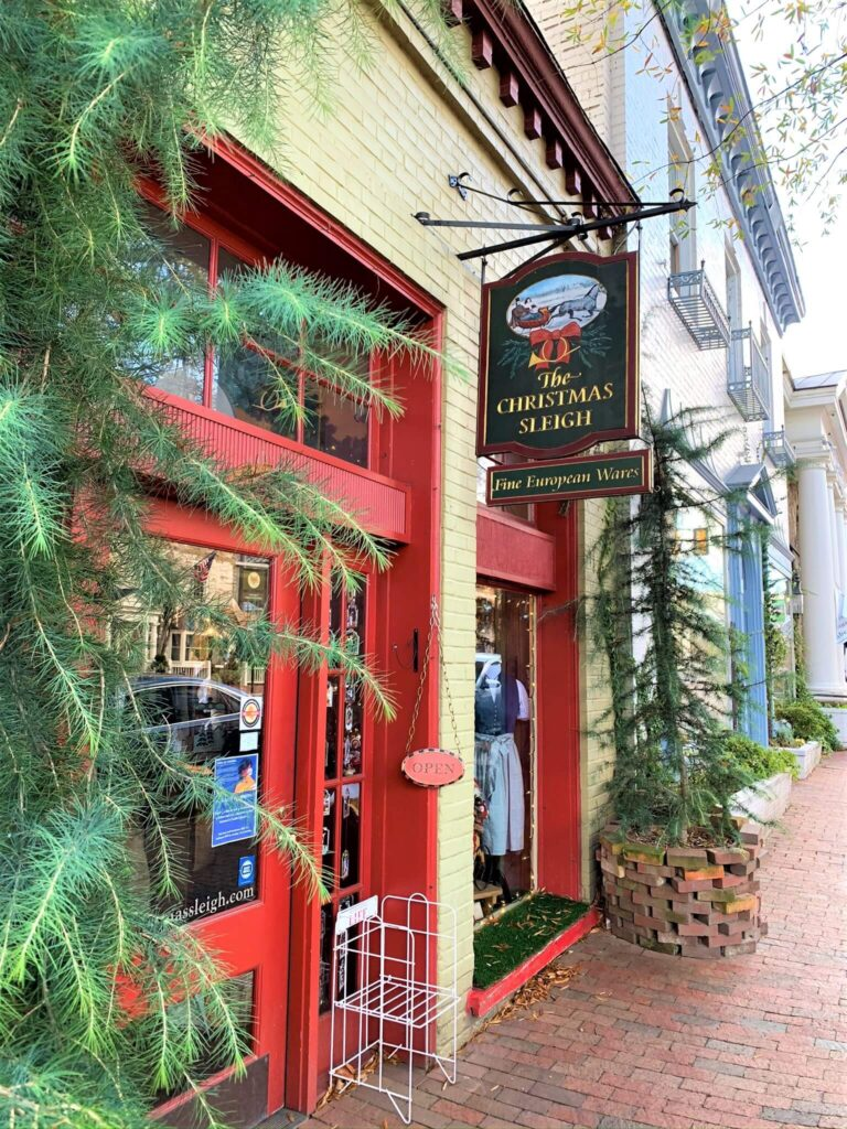 Entrance To The Christmas Sleigh Shop