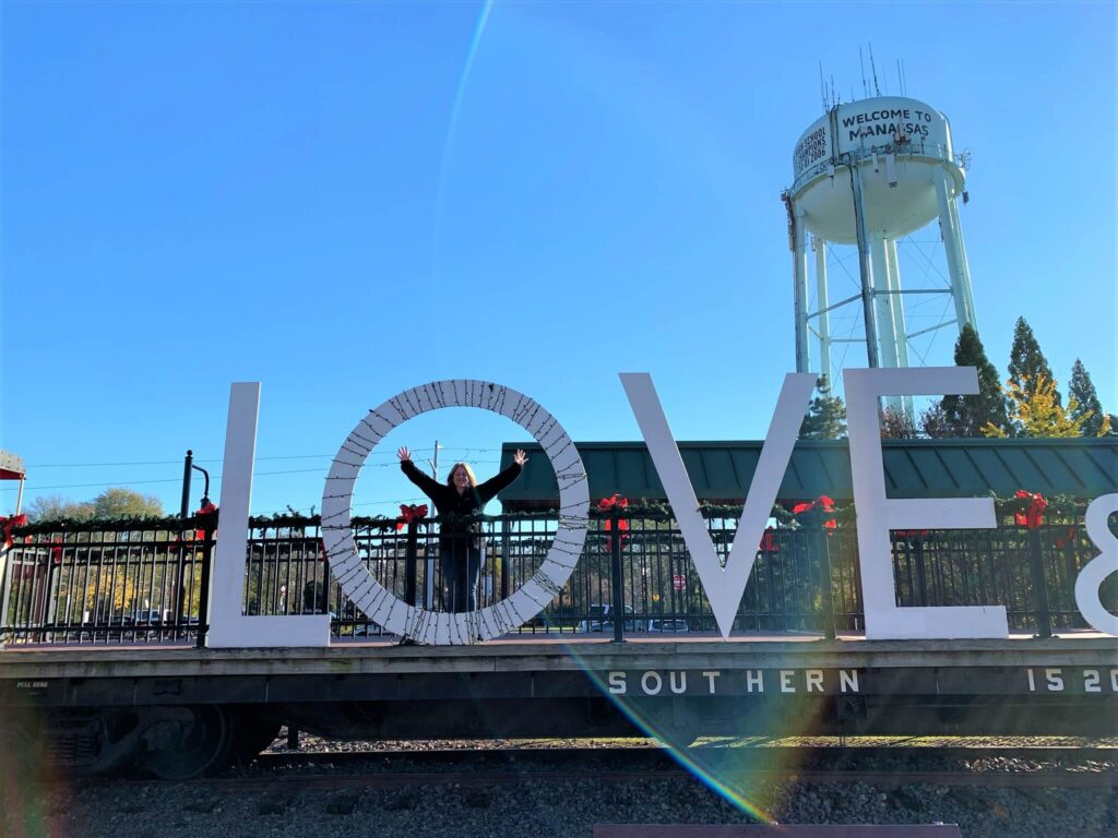 Love and Hope Sign at Old Manassas
