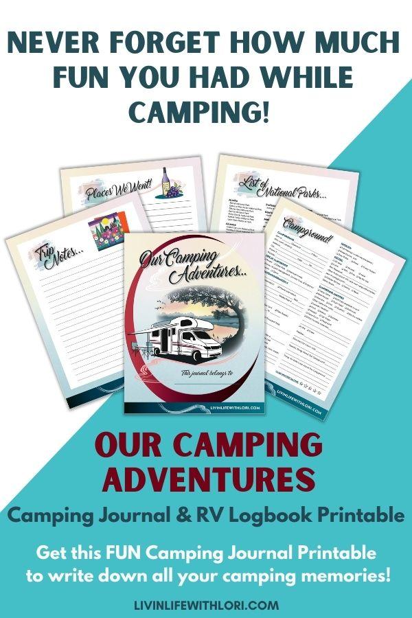 RV Camping Journal & Logbook Printable