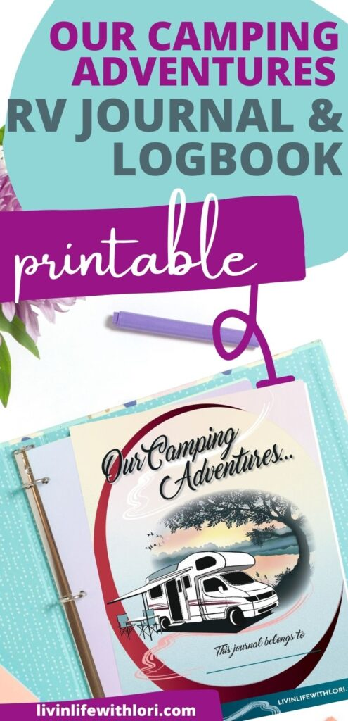Our Camping Adventures RV Journal Logbook Printable