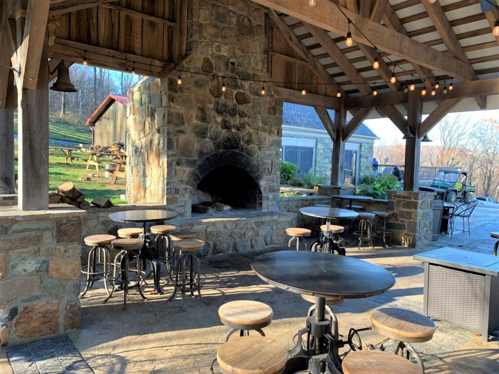 Outside seating at Dirt Farm Brewing