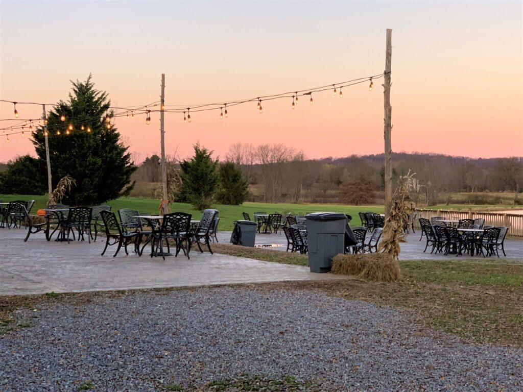 Patio Seating at Henway Cider