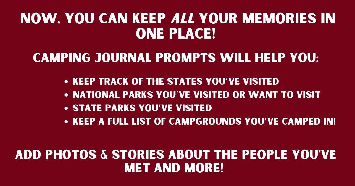 RV Logbook & Camping Memories Journal