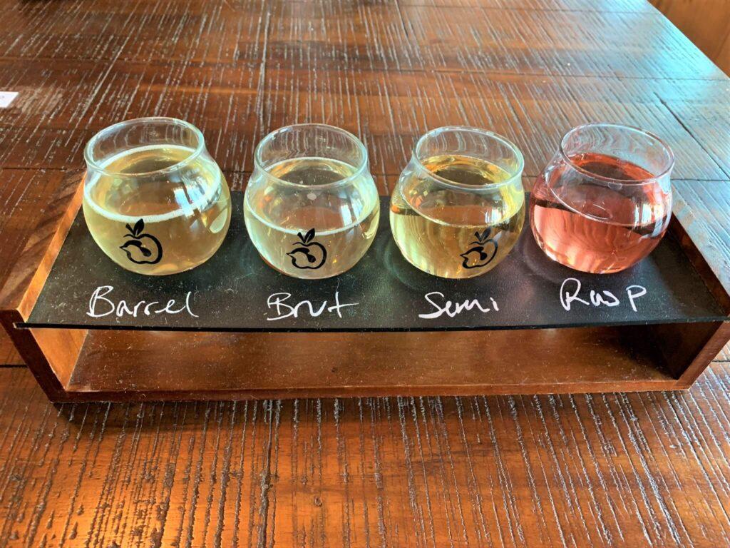 Tasting at Henway Hard Cider Bluemont VA