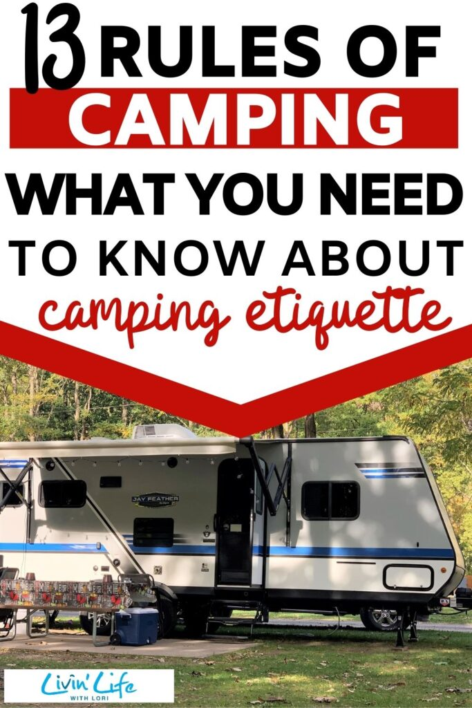 camping rules travel trailer at campground