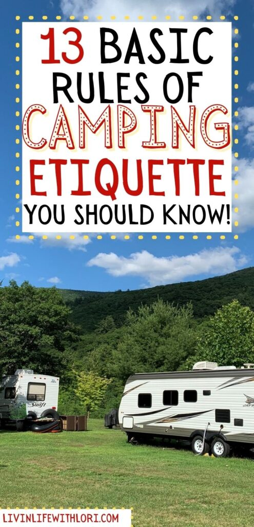 camping etiquette at the campground