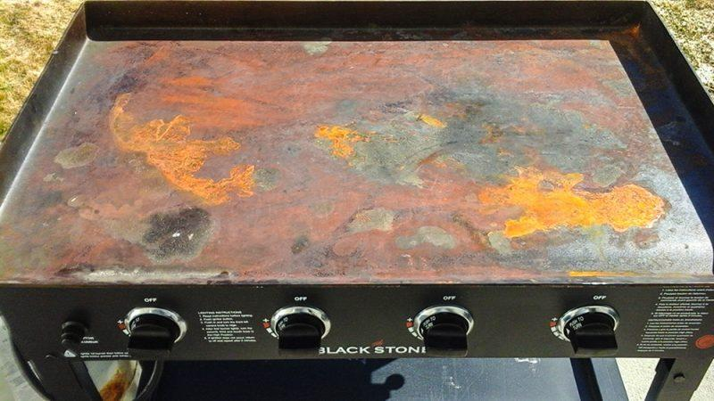 rusty Blackstone Griddle