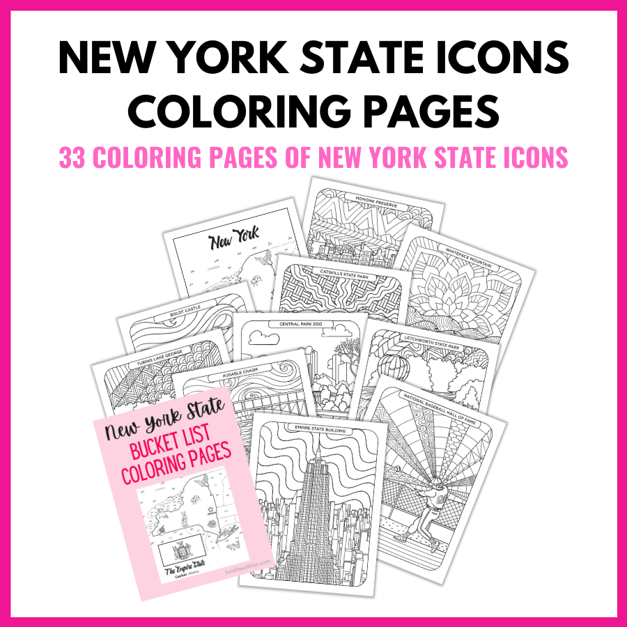 NY State Icons Coloring Pages