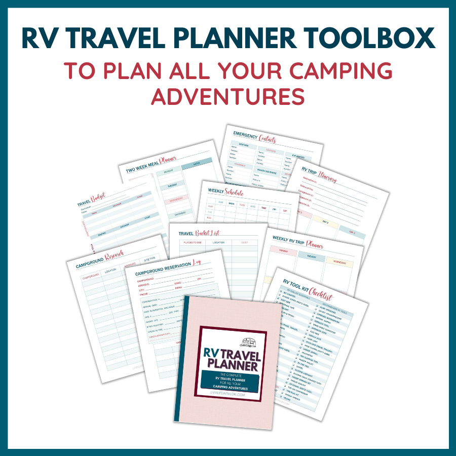 RV Travel Planner Printables Shop