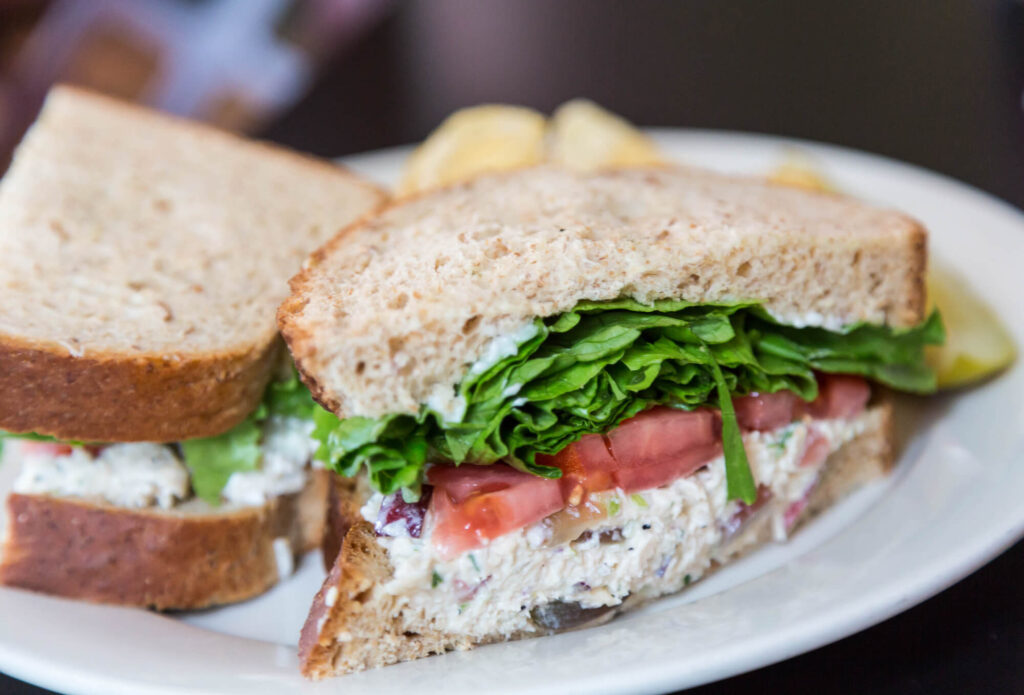 Camping Meal Chicken Salad Sandwich