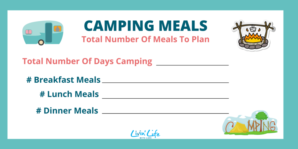 Camping Meals To Plan Graphic Final
