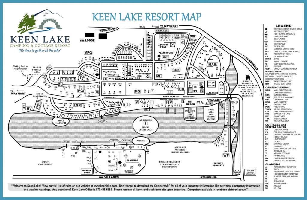 Keen Lake Map