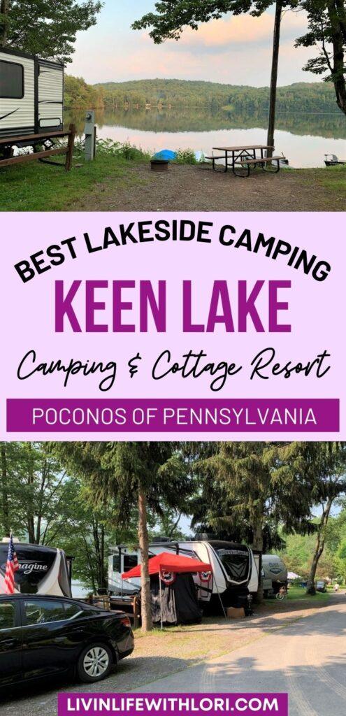 Poconos Camping Keen Lake Camping Resort