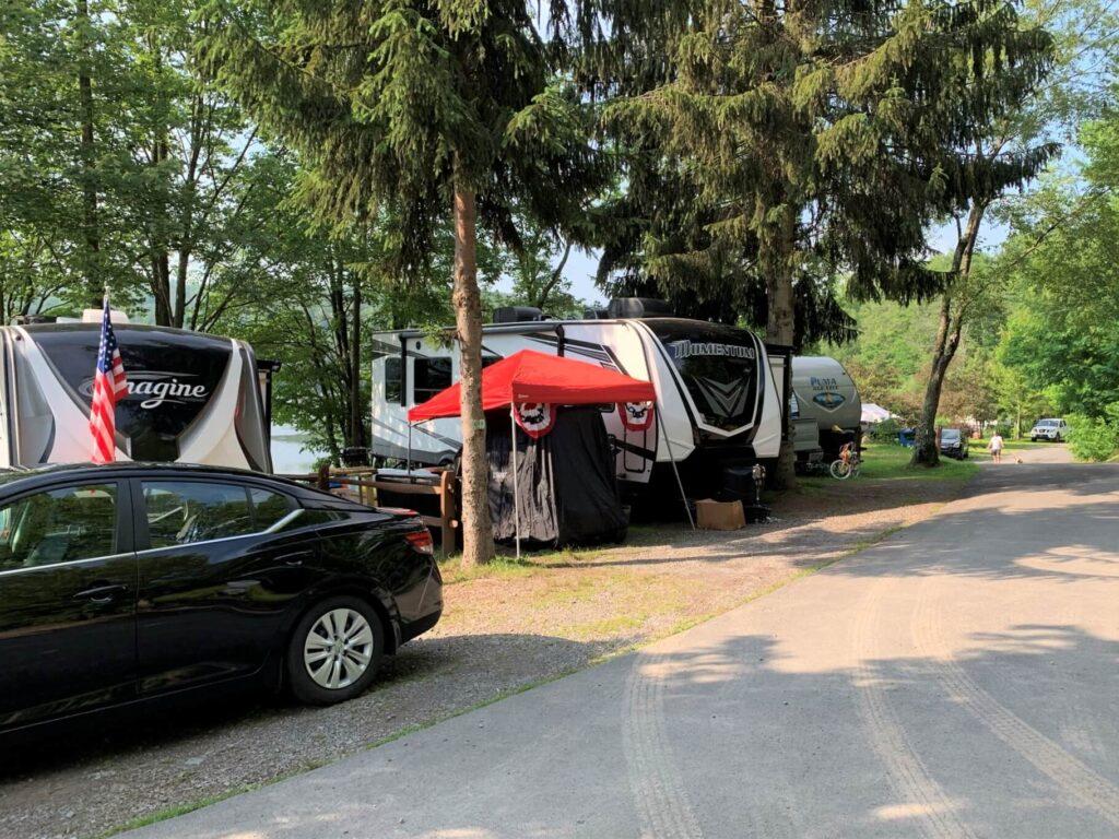 RV sites on Keen Lake