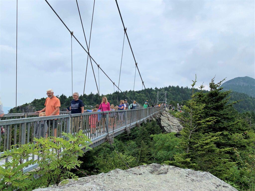 The Swinging Bridge Grandfather Mountain NC