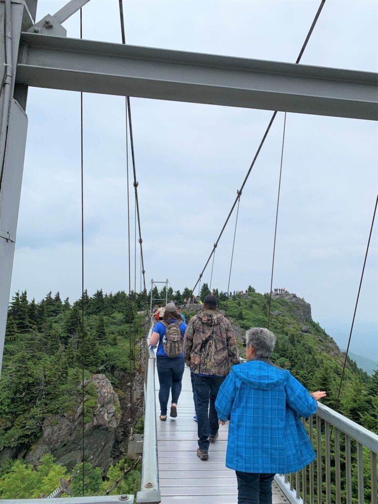 Walk Across the Swinging Bridge Grandfather Mountain