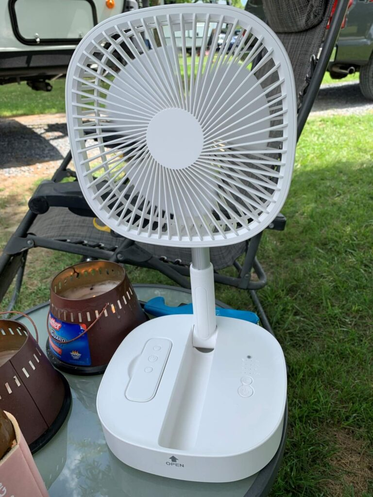 battery operated portable fan