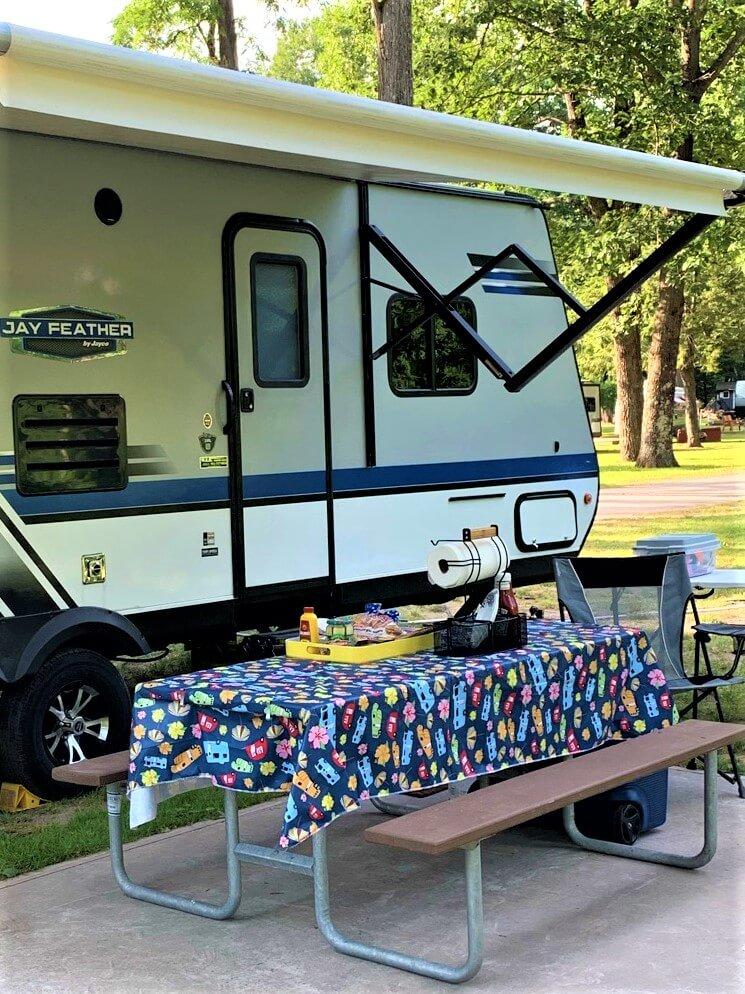 Cute Retro Camping Picnic Table Cloth