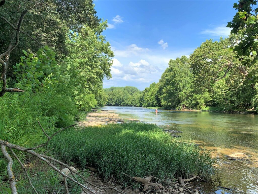 fishing in the Shenandoah River