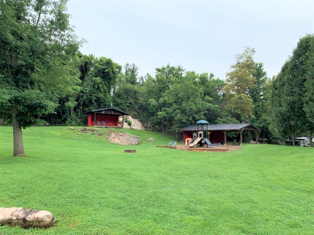 Large play area for kids Jonesborough Cherokee NF KOA