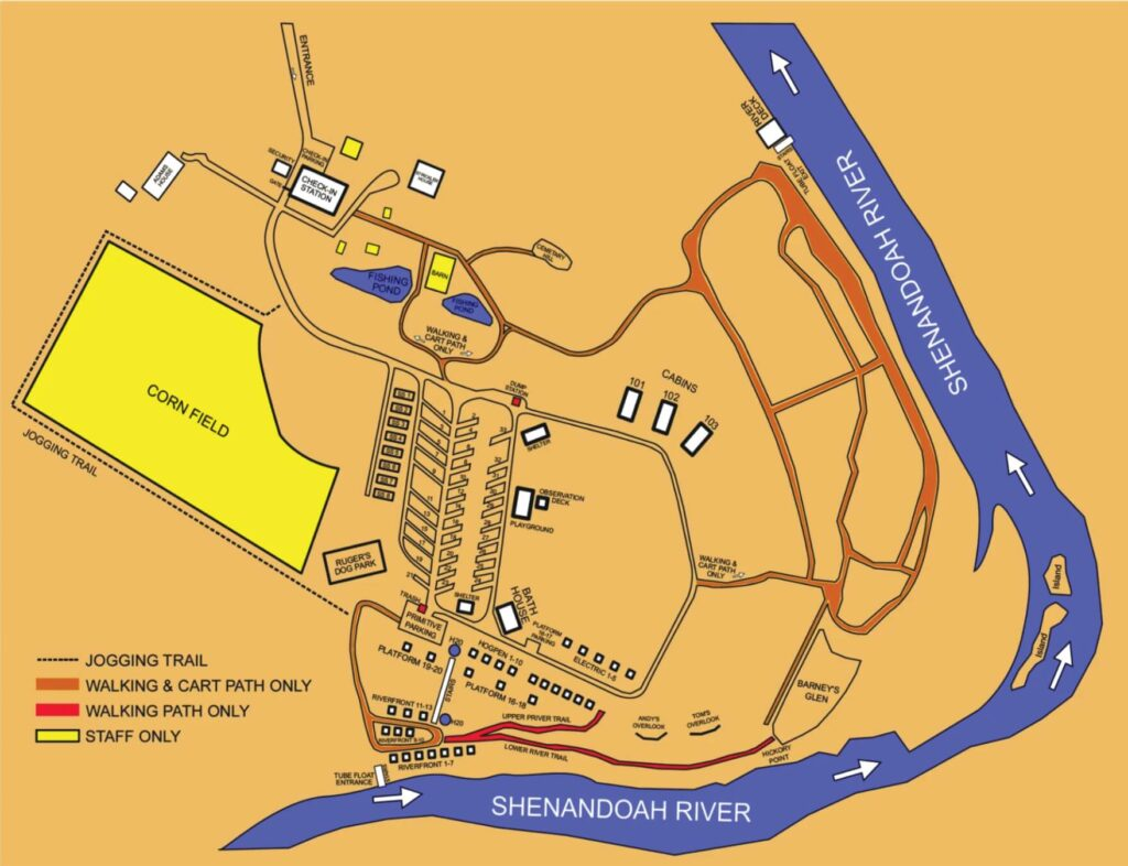 Outlanders River Camp Map