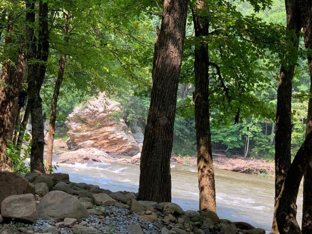 Nolichucky River at Jonesborough Cherokee NF KOA Tennessee