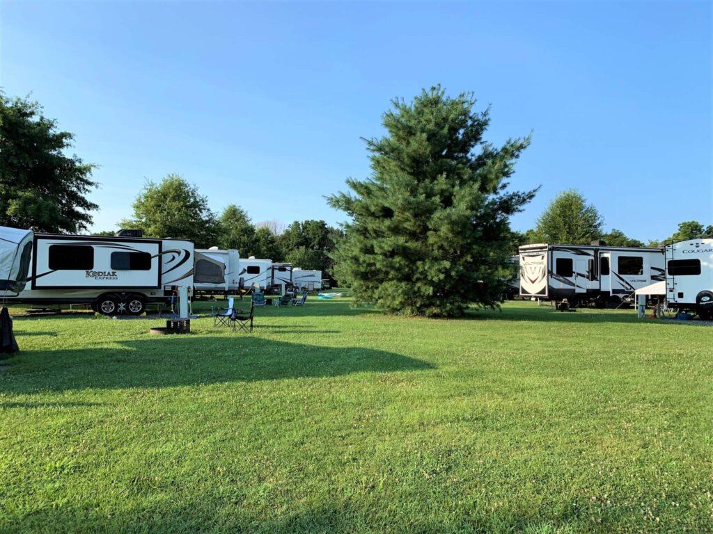 spacious rv sites at Outlanders River Camp