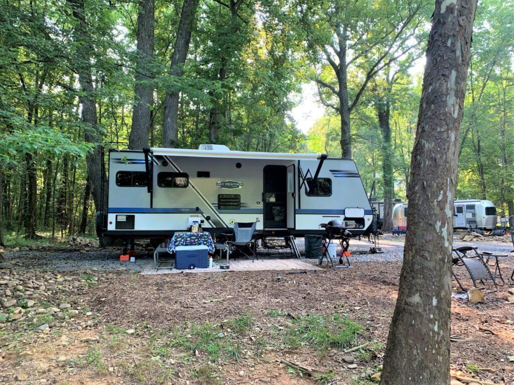 Big Rig Friendly campground Jonesborough Cherokee NF KOA Tennessee
