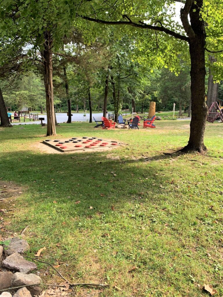 Harrisonburg KOA Campground Game Area