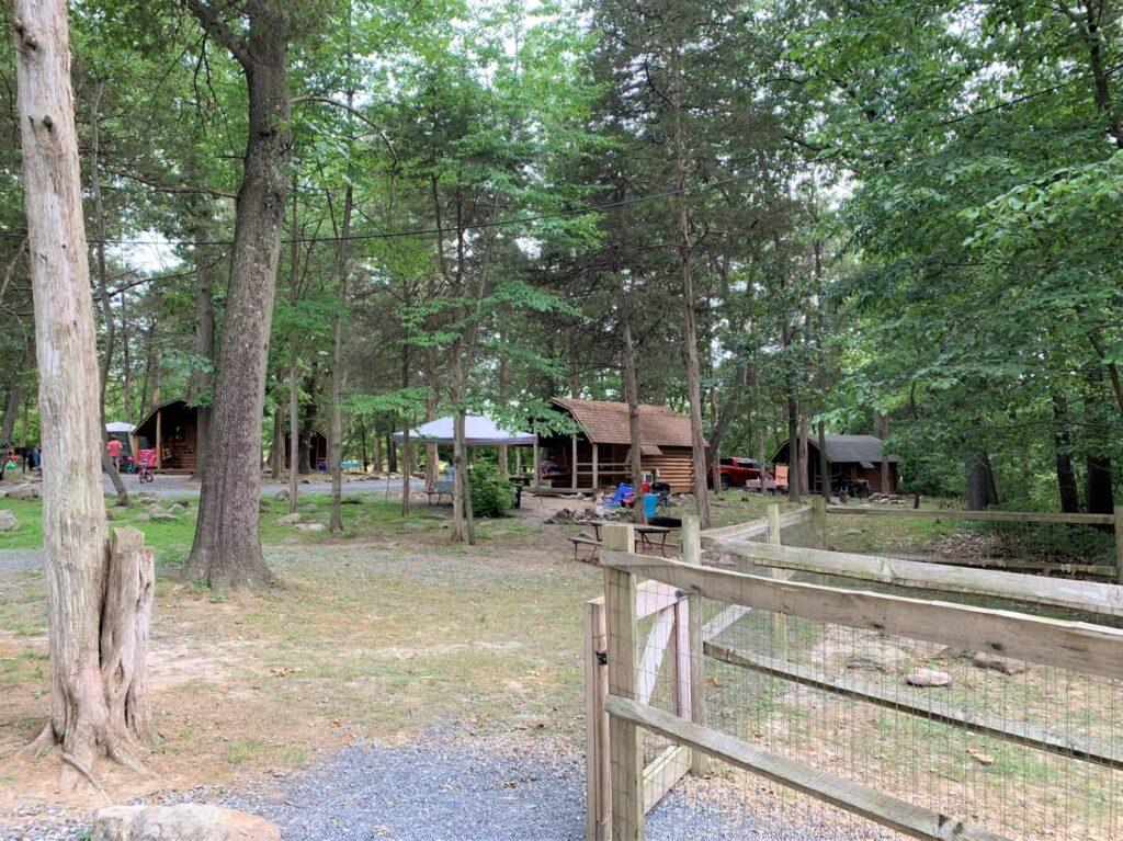 Camping Cabin area at Harrisburg Shenandoah Valley KOA