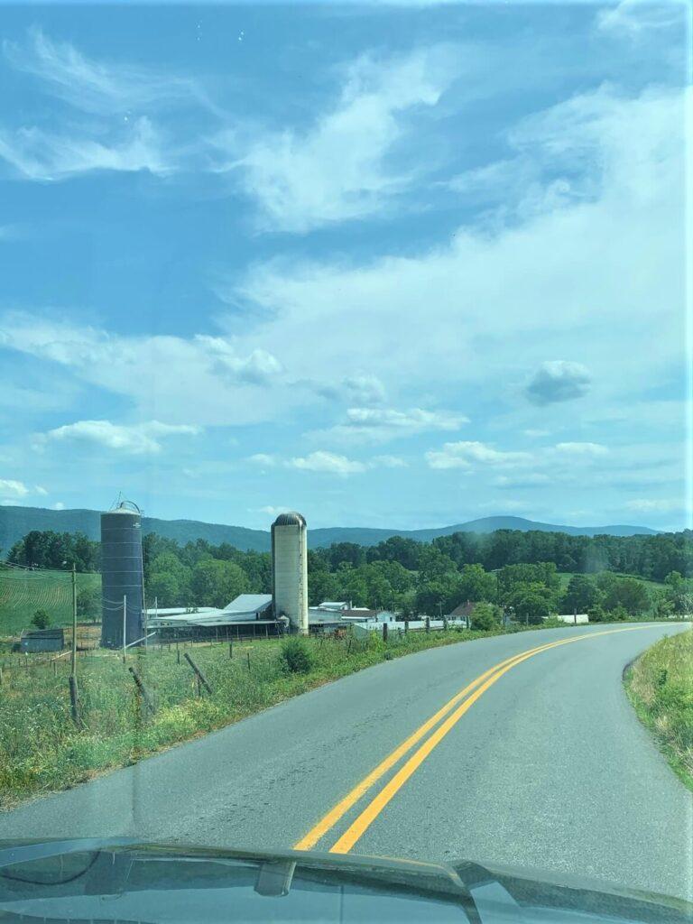 drive to KOA Shenandoah Valley