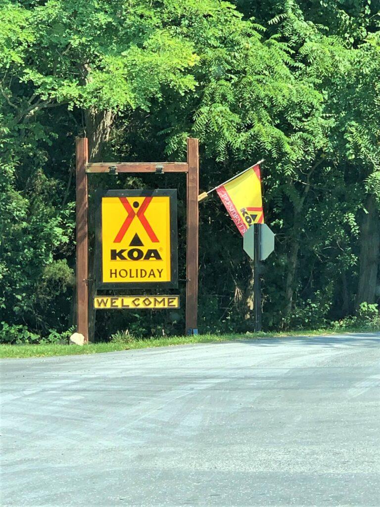 Entrance to Harrisonburg Shenandoah Valley KOA