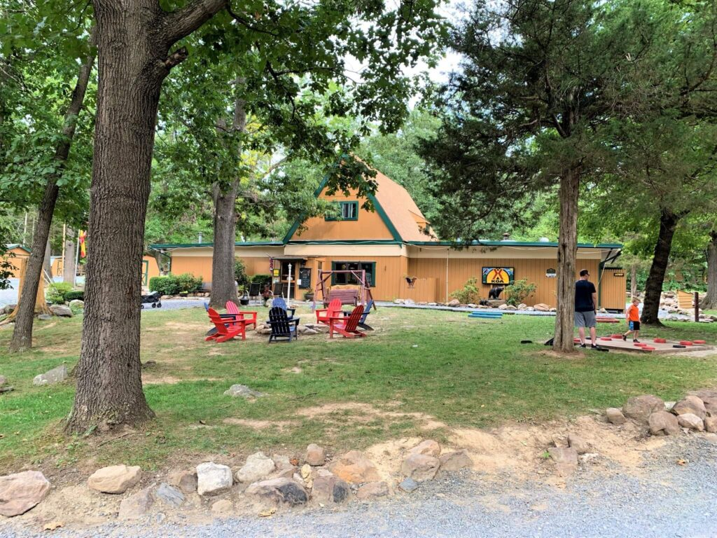 Games and Community Firepit at campground
