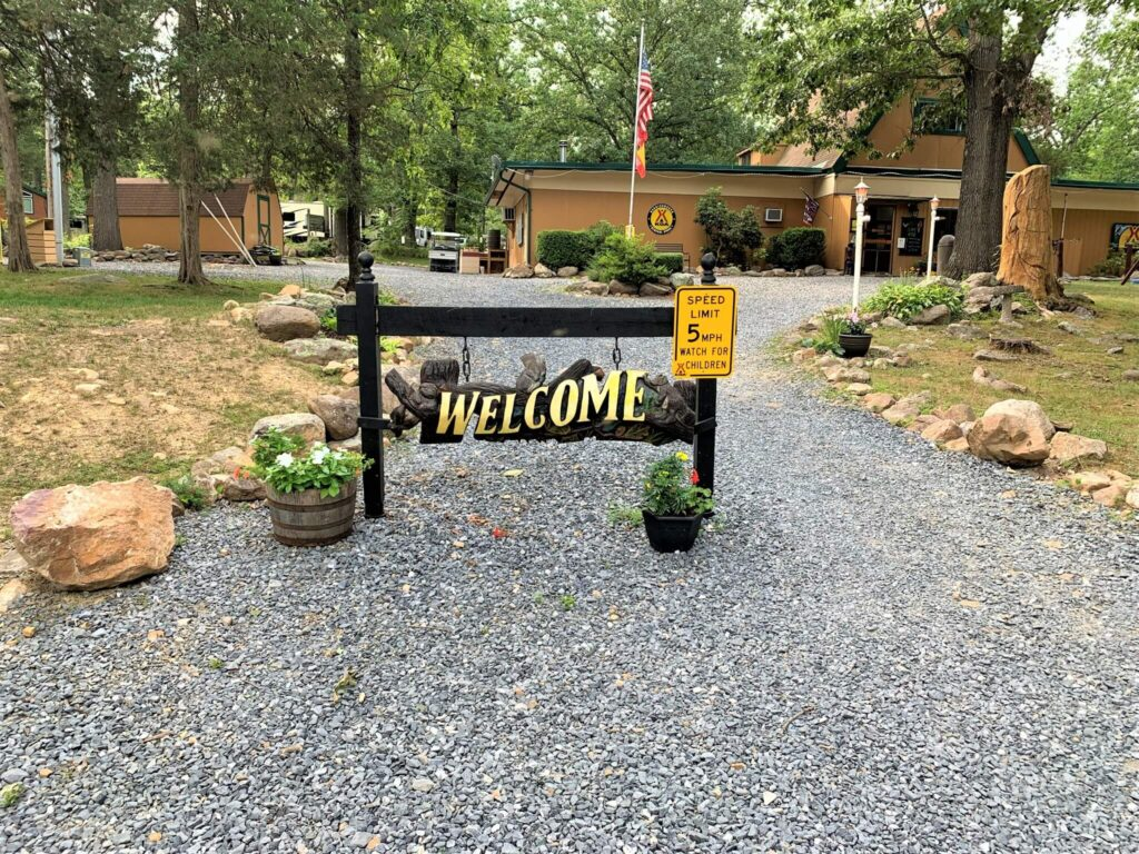 Harrisonburg Shenandoah Valley KOA Entrance Welcome