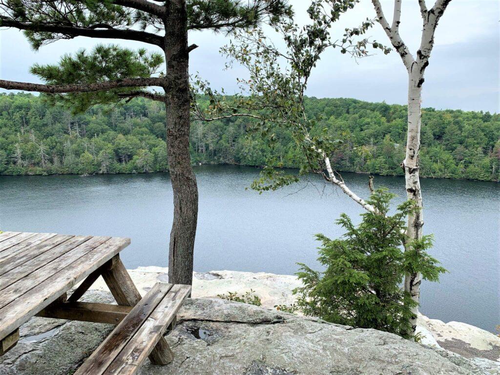 Picnic area at Lake Minnewaska