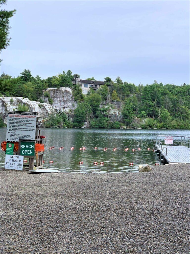 Swimming area at Lake Minnewaska